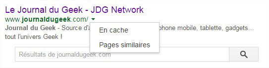 SEO On-Page - Page en cache