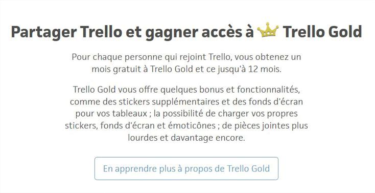 La version Premium de Trello ne coûte qu'un partage.
